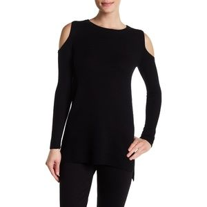 Alice + Olivia Wade Cold Shoulder Tunic Sweater S